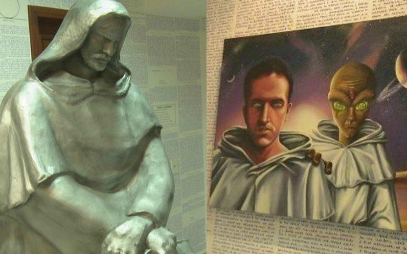 estátua e quadro encontrados no quarto do Bruno Borges, o menino do Acre
