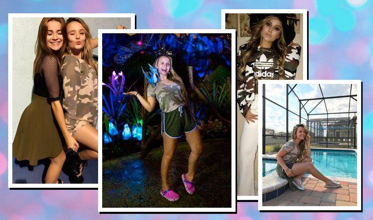 Looks da Larissa Manoela com militarismo