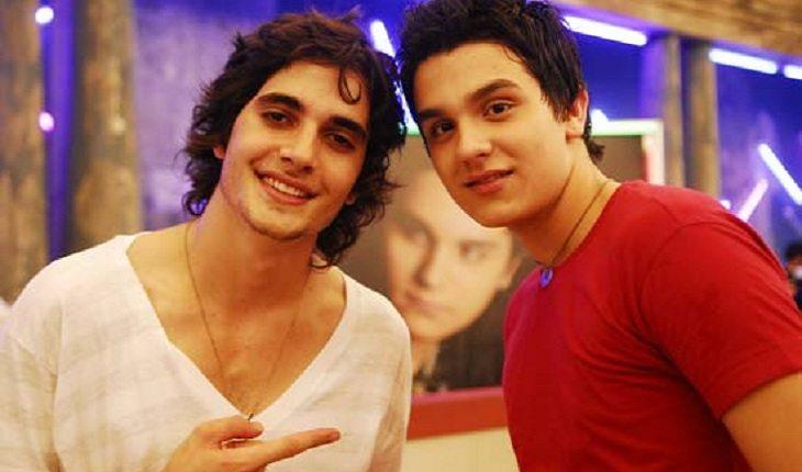 O ator Fiuk e o cantor Luan Santana juntos