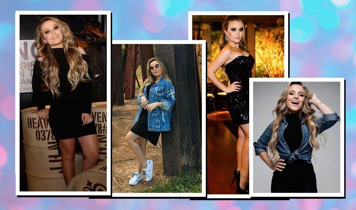 Looks da Larissa Manoela com preto