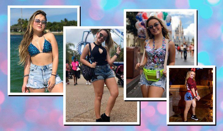 Looks da Larissa Manoela com shorts