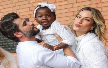 Bruno Gagliasso e Giovanna Ewbank no batizado da Titi!