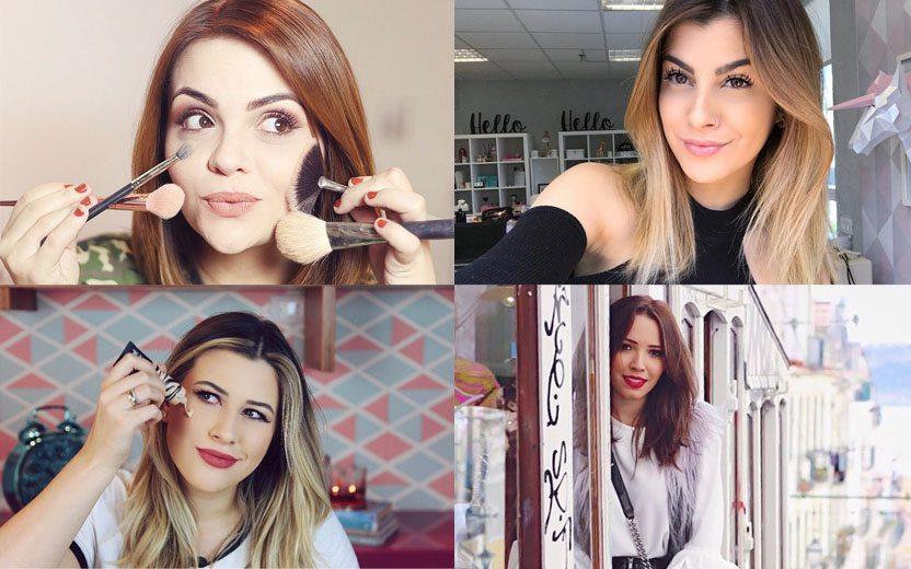 4 youtubers de beleza numa montagem: Karol Pinheiro, Nah Cardoso, Niina Secrets e Taciele Alcolea