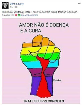demi lovato fala sobre cura gay