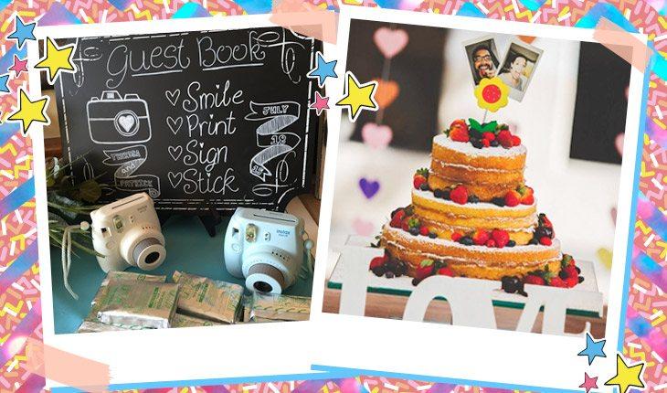 Inspirações para usar câmeras e fotos Instax na sua festa!