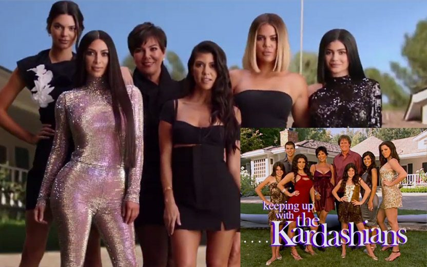 Kardashians recriam abertura da 1ª temporada de Keeping Up With the Kardashians