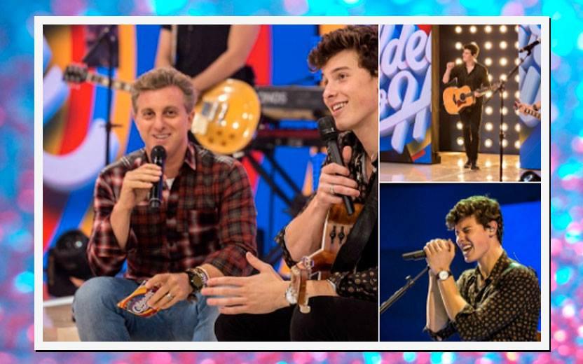 Shawn Mendes no Brasil: cantando no programa do Luciano Huck