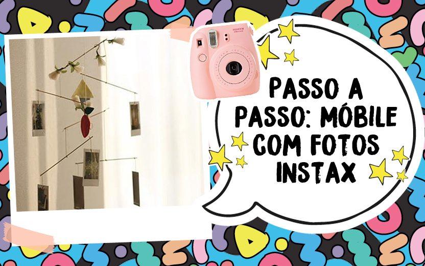 Aprenda a fazer um lindo móbile suspenso com fotos Instax!