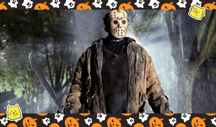 montagem com o filme de terror sexta feira 13