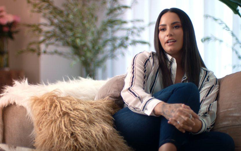 Demi Lovato em seu documentário Simply Complicated