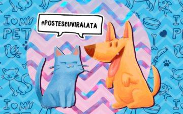 #posteseuviralata-pet-adoção