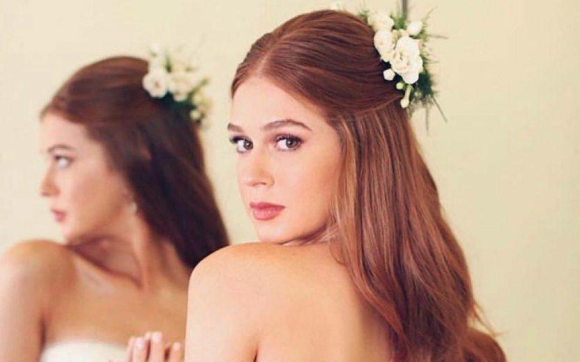 Marina Ruy Barbosa usando vestido de noiva