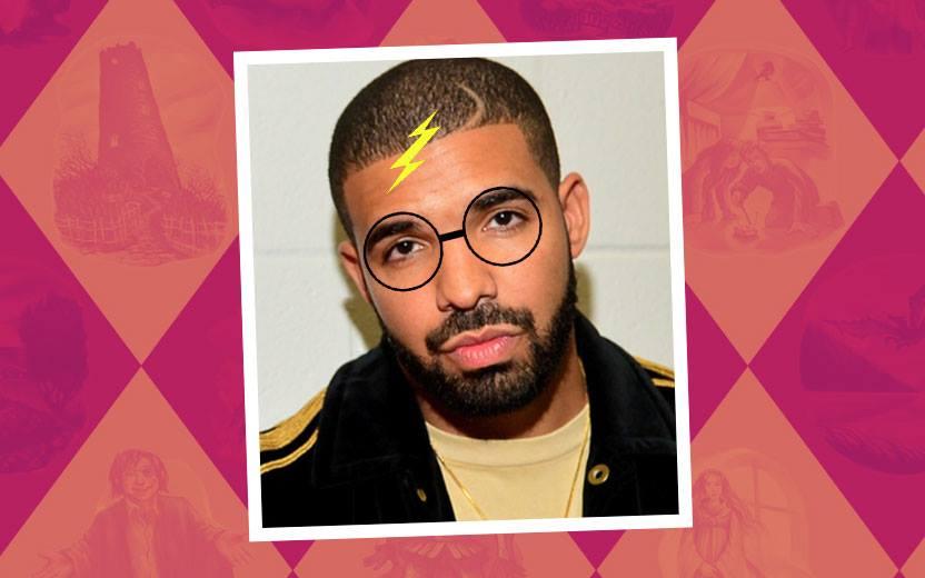 Drake com raio de Harry Potter
