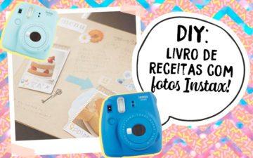 DIY: aprenda o passo a passo de um livro de receitas com fotos Instax!