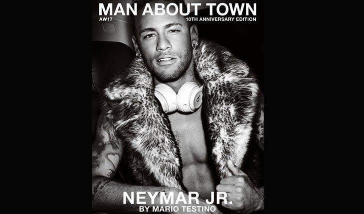 Neymar na capa da Man About Town