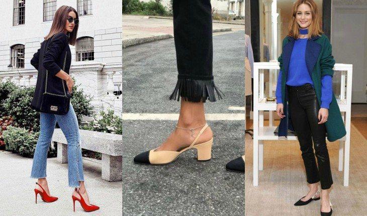 b10a58d57e8 Slingback  nada mais é que os sapatos presos no calcanhar que já foram moda  há muito tempo. Principalmente no modelo baixinho