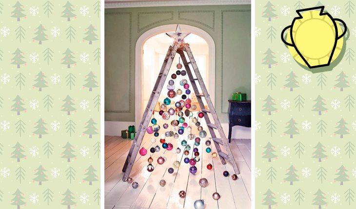 Árvore de Natal do signo de aquário