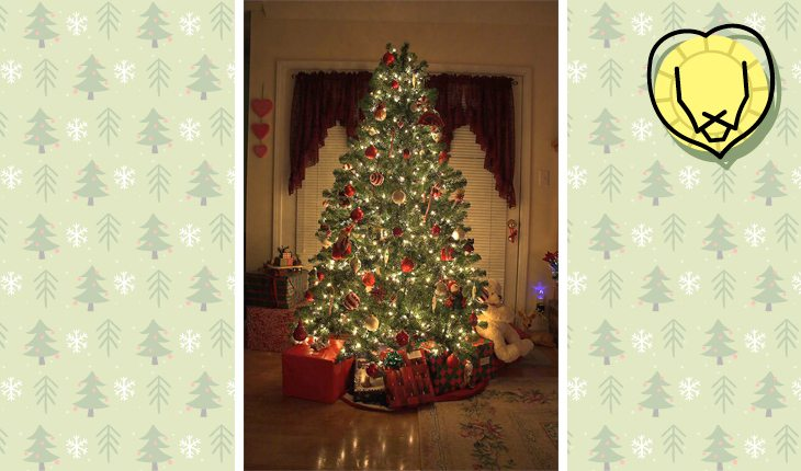 Árvore de Natal do signo de leão