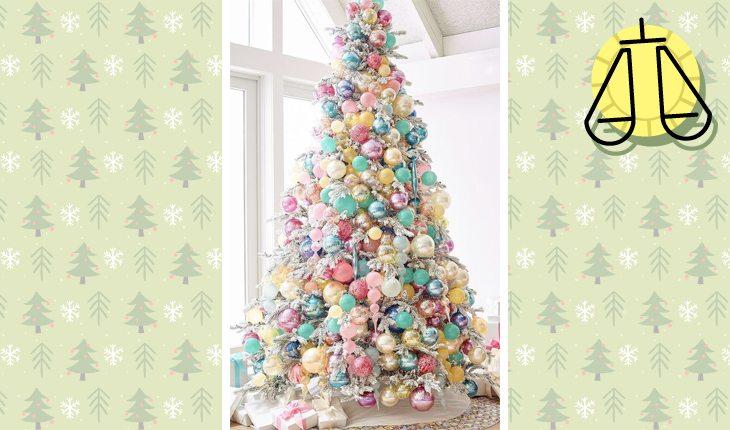 Árvore de Natal do signo de libra