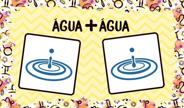 Combinação entre água + água