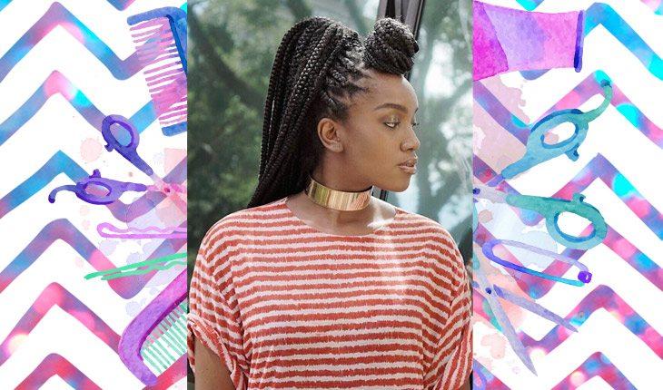 IZA com penteado para a menina com cabelo afro se inspirar