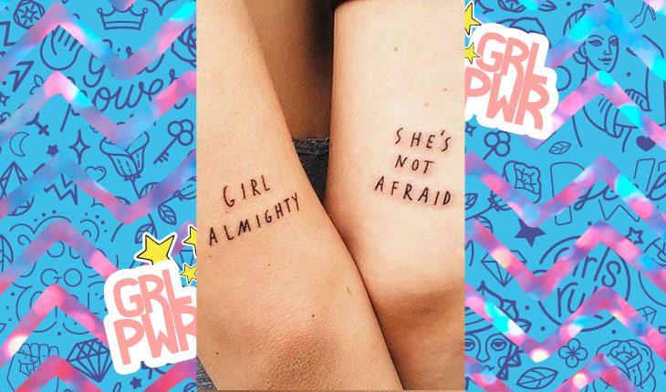 ideias de tatuagens girl power