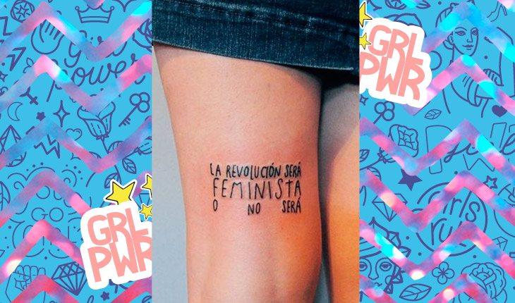 ideias de tatuagens girl power que falam sobre o feminismo