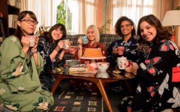 As Five de Malhação: Viva a Diferença vestidas de kimono