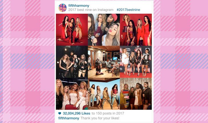 fotos mais curtidas no Instagram de Fifth Harmony