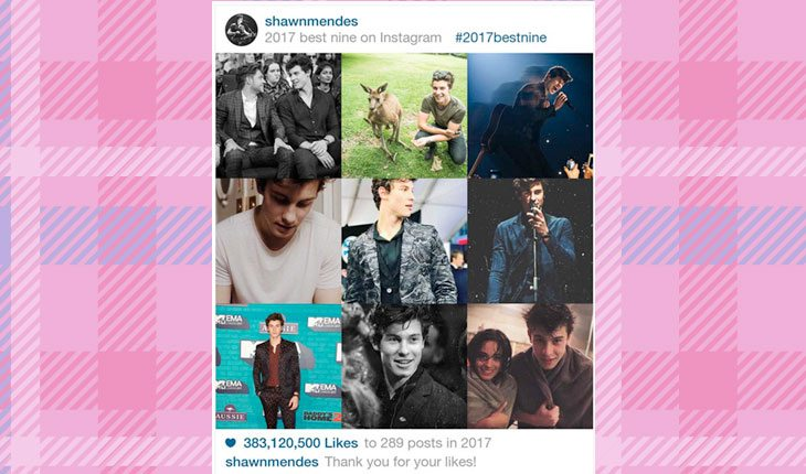 fotos mais curtidas no Instagram de Shawn Mendes