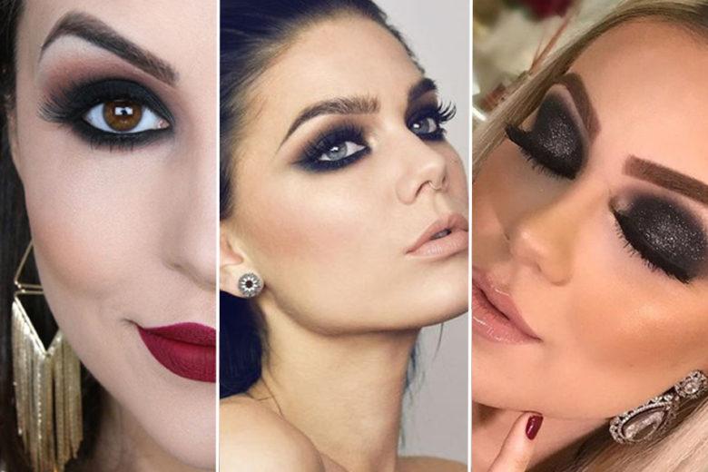 mulheres com make com olho preto