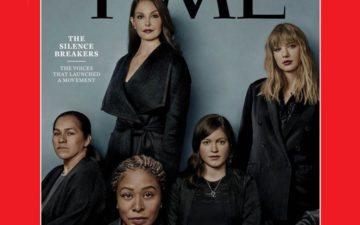 mulheres que quebraram o silêncio e denunciaram casos de assédio na capa da TIMES