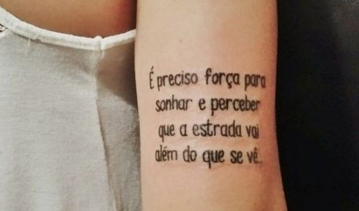 tatuagens com frases positivas