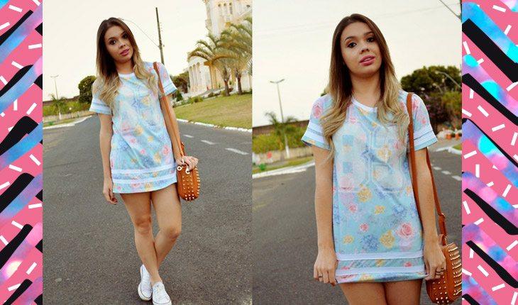 Vestido camiseta: sugestões de looks para ser a rainha do street style!