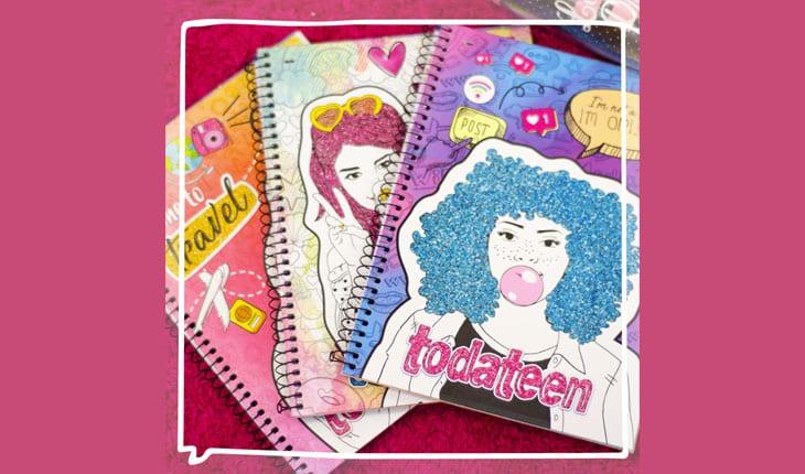 cadernos da todateen by jandaia
