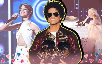 Camila Cabello, Bruno Mars e Lady Gaga no Grammy 2018