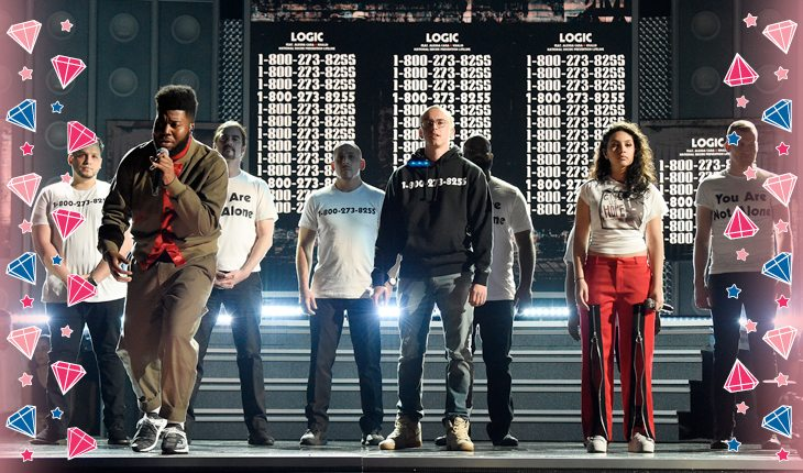 Alessia Cara, Logic e Khalid no palco