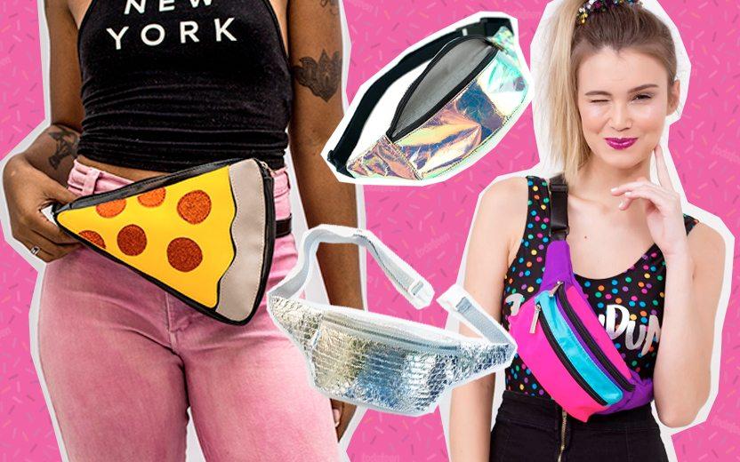 Pochetes de pizza, holográfica, plástico bolha e colorida