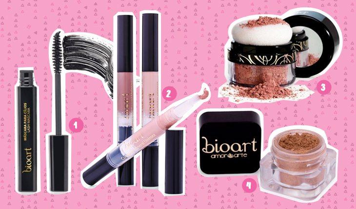 Beleza sustentável: produtos de maquiagem da marca Bioart