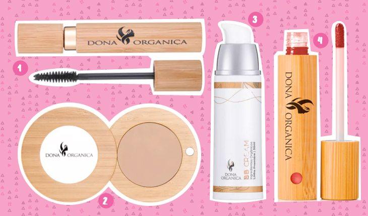 Beleza sustentável: produtos de maquiagem da Dona Orgânica
