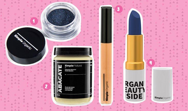 Beleza sustentável: produtos de maquiagem da Simple Organic