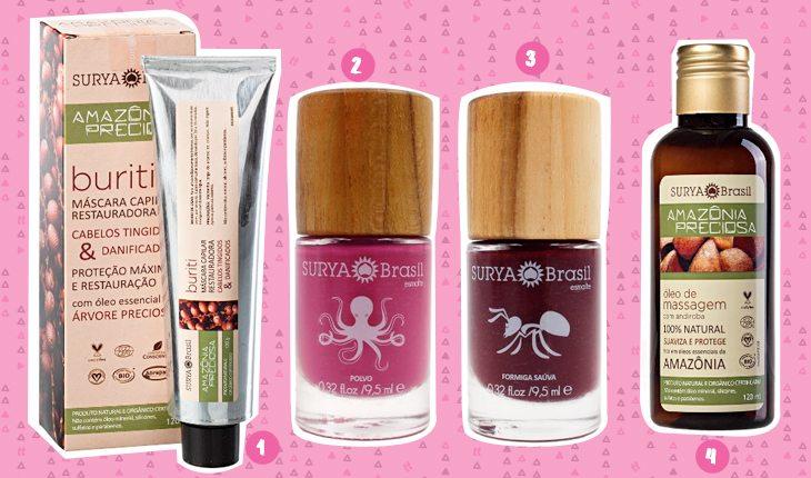 Beleza sustentável: produtos de beleza da Surya Brasil