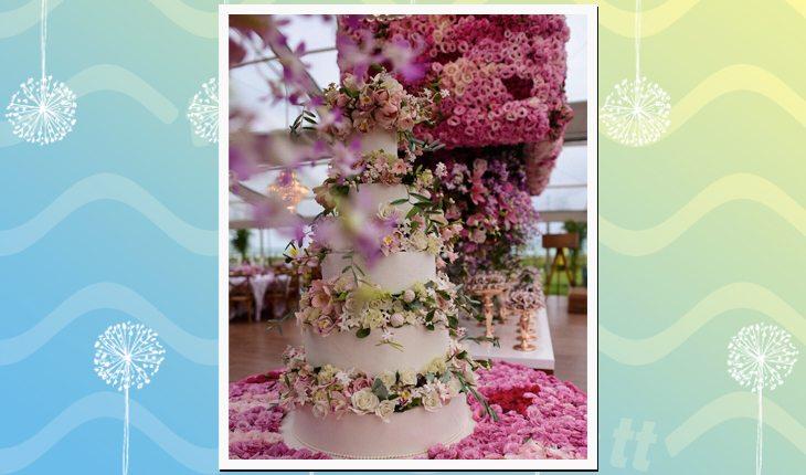 O casamento de Whindersson Nunes com Luísa Sonza: bolo de casamento