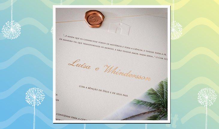casamento de Whindersson Nunes com Luísa Sonza: convite de casamento
