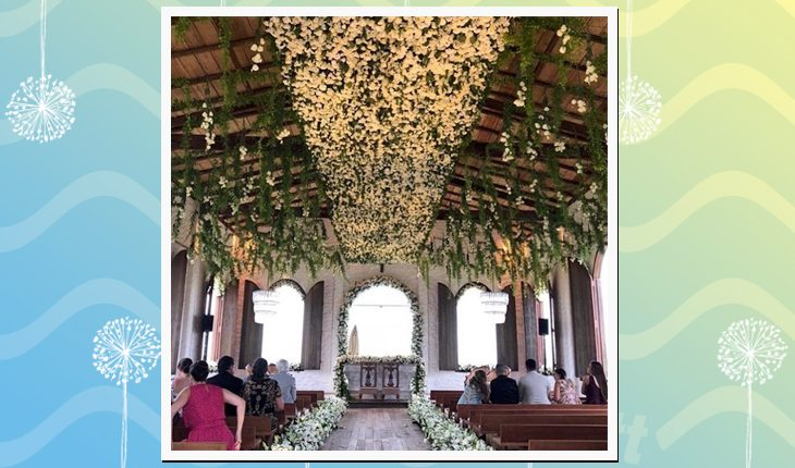 casamento de Whindersson Nunes com Luísa Sonza: decoração da capela