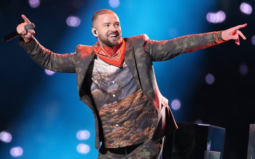 Justin Timberlake no Super Bowl 2018