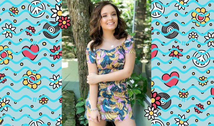 Larissa Manoela: Larissa usando vestido