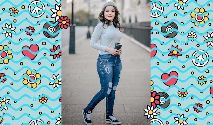 Larissa Manoela: Larissa usando calça jeans