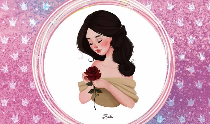 ilustrações das princesas Disney: Bela