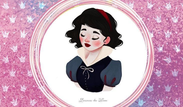 ilustrações das princesas Disney: Branca de neve